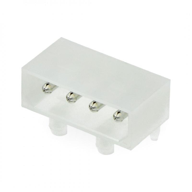 4-pin angled printing plug, pitch 5.08mm*