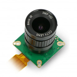 IMX477 12,3 MPx HQ camera with 6mm CS-Mount lens - for Raspberry Pi - ArduCam B0240