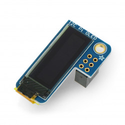 "PiOLED Adafruit - OLED graphics display with 0.9"" 128x32px I2C for Raspberry Pi"