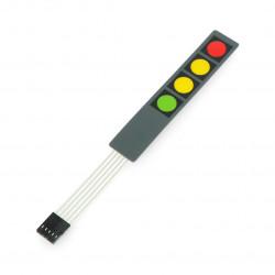 Membrane Switch Keypad 4 Key red/yellow/yellow/green