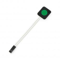 Membrane keypad - 1 green key - self-adhesive