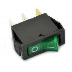 Wyłącznik On-Off IRS-101-1B 250VAC/16A - zielony [UWAGA]