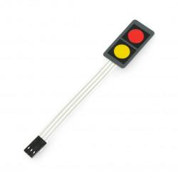 Membrane Switch Keypad 2 Key red/yellow