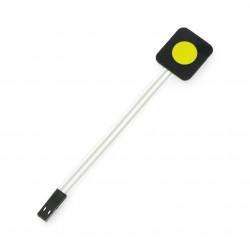 Membrane keypad - 1 yellow key - self-adhesive