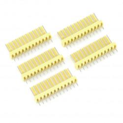2,54 mm - plug 12-pin - 5 pcs