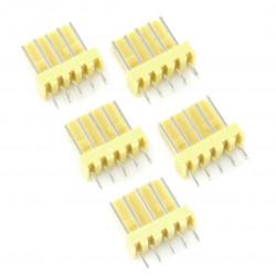 2,54 mm - plug 5-pin - 5 pcs