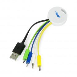 Adapter keychain USB 5in1 Akyga AK-AD-51