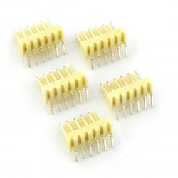 2,54 mm - angular plug 6-pin - 5 pcs