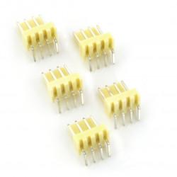 2,54 mm - angular plug 4-pin - 5 pcs