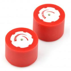 Koła FingerTech poliuretan 30x22mm - 2szt - czerwone