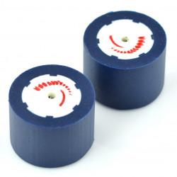 Koła FingerTech poliuretan 30x22mm - 2szt - niebieskie