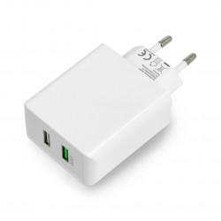 Goobay 2xUSB QC3.0 5V / 2A power supply - white