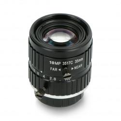Narrow angle lens 10Mpx 35mm C Mount - for Raspberry Pi camera - Seeedstudio 114992275
