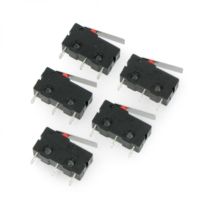Wyłącznik czujnik krańcowy mini - WK601 - 5 szt.
