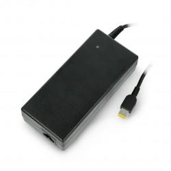 Green Cell power supply for Lenovo 20V 6,75A slim tip USB plug