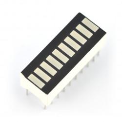 Wyświetlacz LED linijka OSX10201-GYR1 - 10-segmentowy