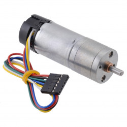 DC Motor 25Dx58L with 499.1:1 Gear 6V 11RPM + encoder CPR 48