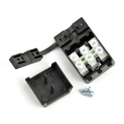 Kostka elektryczna 3pin 10A/250V in case