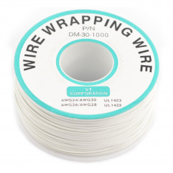 Insulated PVC Coated 30AWG Wire Wrapping Wires Reel 820Ft - white*