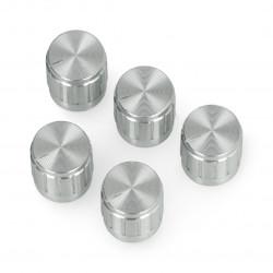 Gałka potencjometru GCL15 srebrna - 15mm