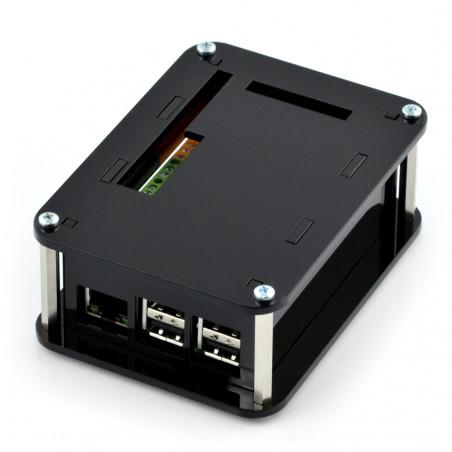 Zestaw Kradex - Hermetyczna obudowa ZP240.190.105SJp HTM PC z mosiężnymi tulejami - do montażu na ścianę - jasna