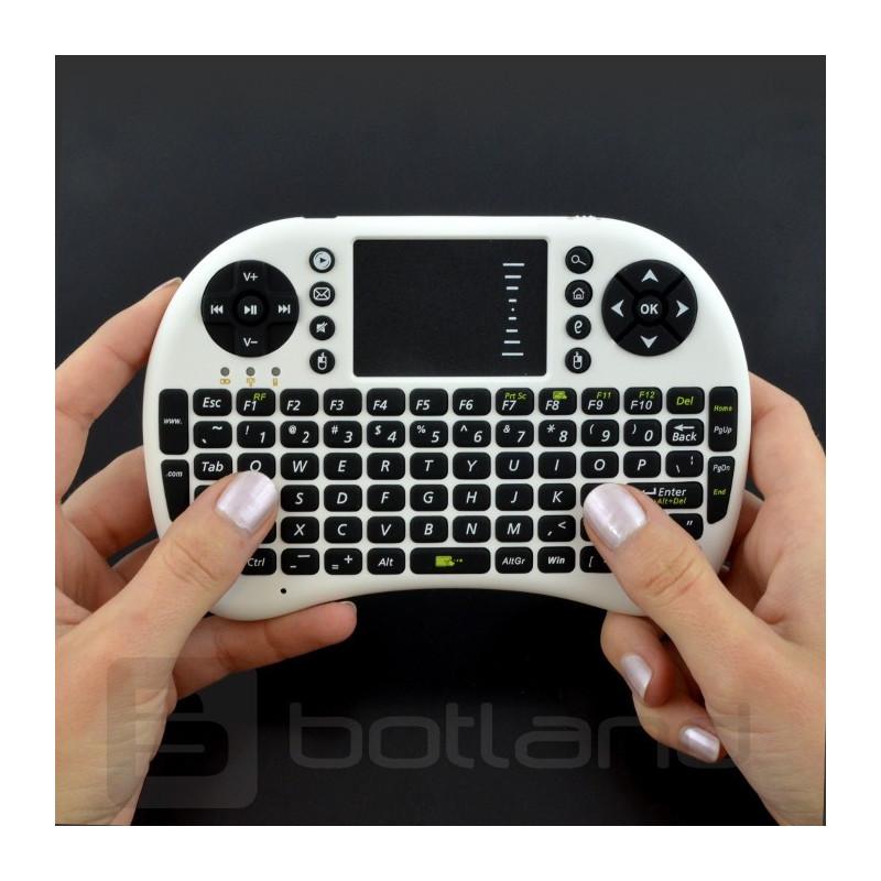 Wireless keyboard + Mini Key touchpad - white_