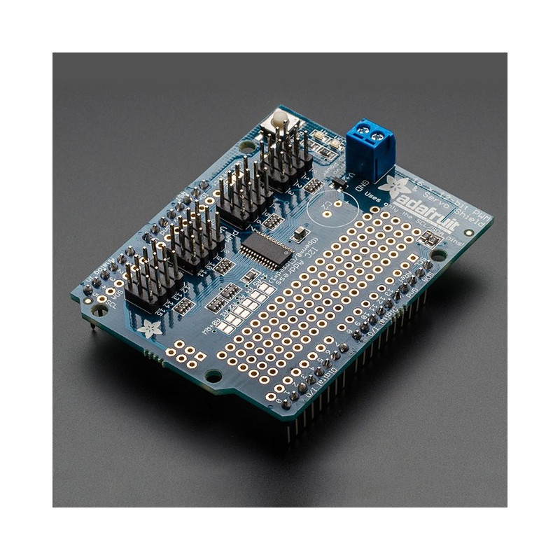 Adafruit 16-channel servo driver, 12-bit PWM I2C - Shield for Arduino*