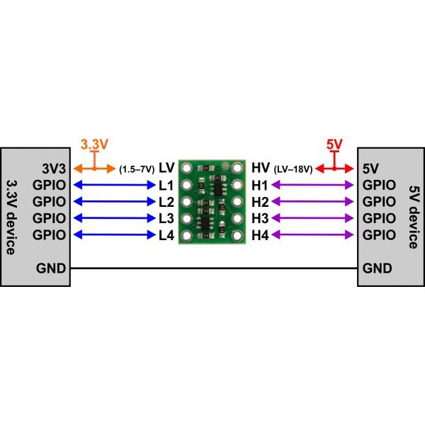 Logic Level Bi Directional Converter 4 Channel