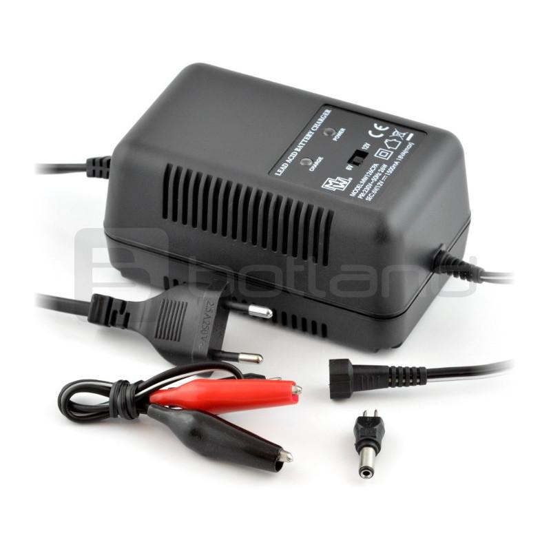 Ładowarka do akumulatorów żelowych 6V / 12V - 1,5A