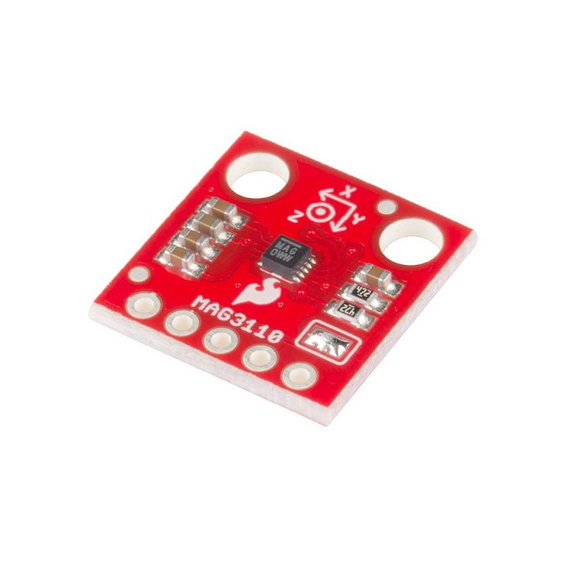 MAG3110 3-osiowy magnetometr cyfrowy I2C - moduł SparkFun