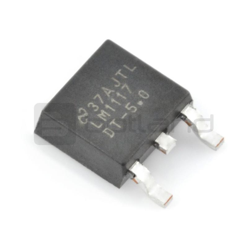 Linear voltage regulator LDO 5V LM1117DT - SMD TO252