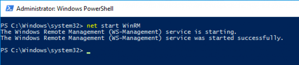 net start WinRM