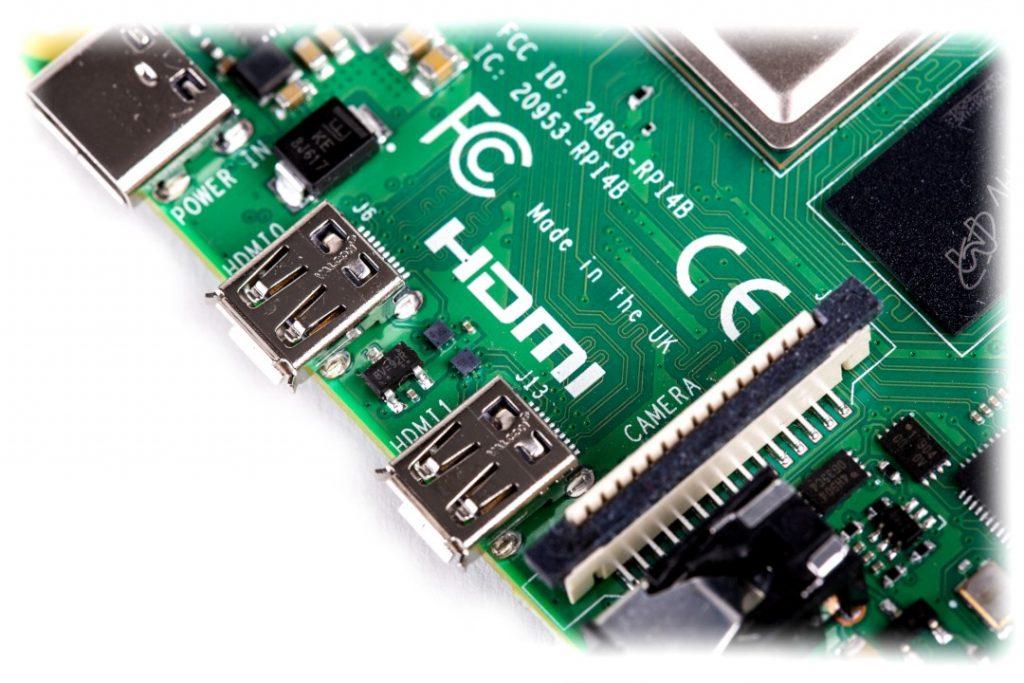 Porty microHDMI w Raspberry Pi 4
