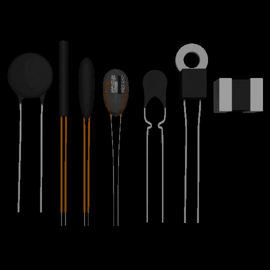 Różne rozmiary i kształty termistora