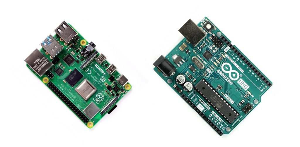 Arduino Uno i Raspberry Pi.