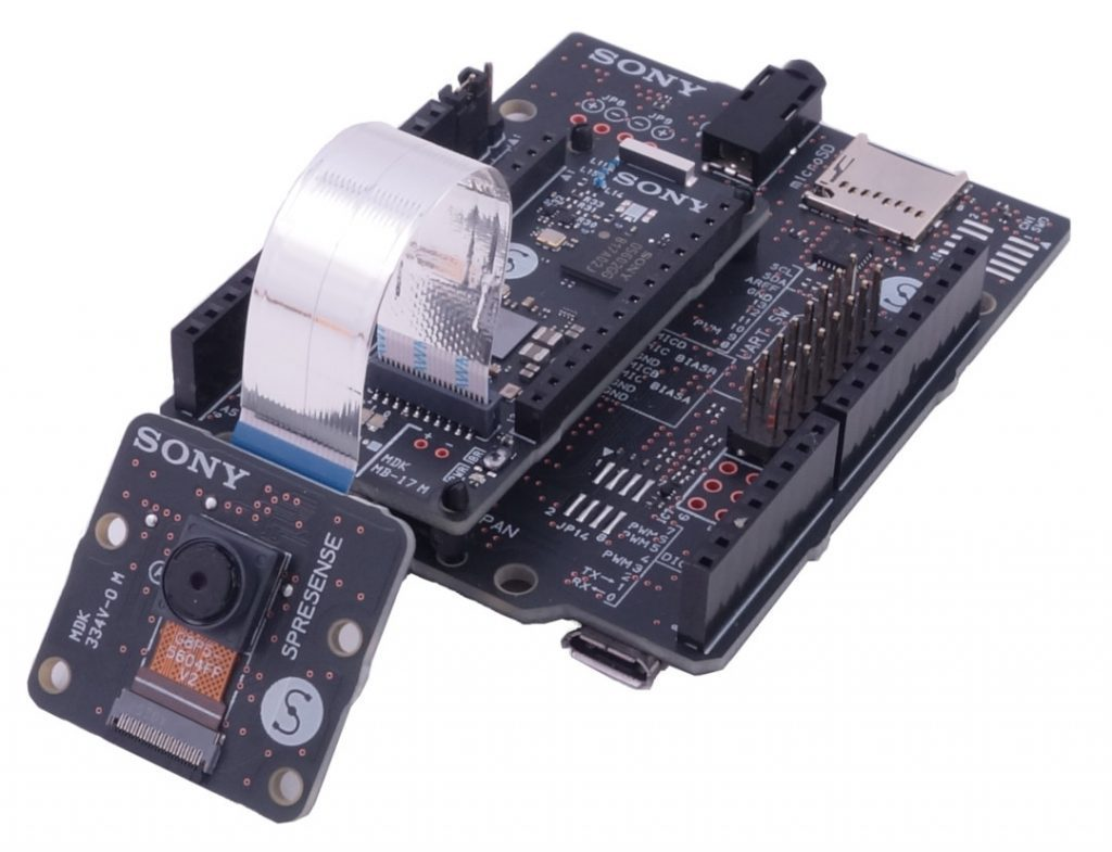 Sony Spresense IoT podłączone do Extension Board