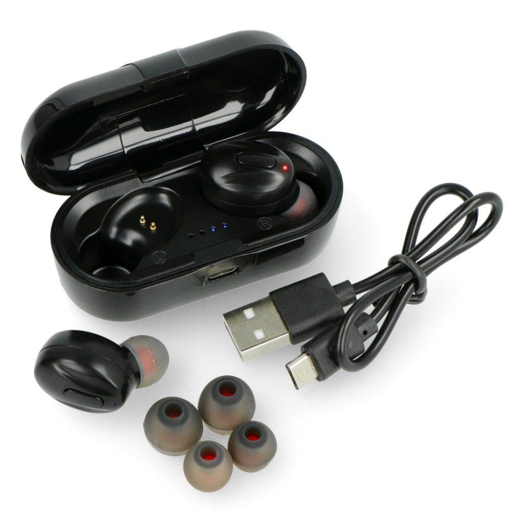 Słuchawki douszne Xblitz UNI PRO 1 - Bluetooth z mikrofonem - czarne