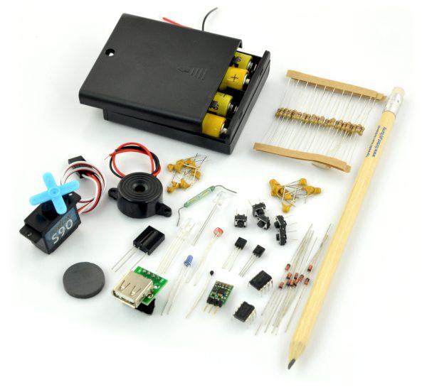 FORBOT - podstawy elektroniki 2 - zestaw elementów + kurs ON-LINE