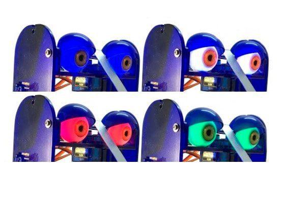 Zestaw świecących pełną paletą barw RGB oczu dla robota Ohbot