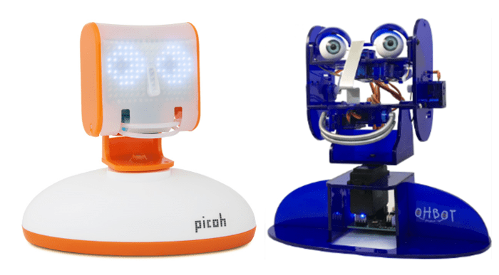 Roboty Picoh i Ohbot