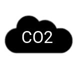 Ikona CO2 dwutlenek węgla