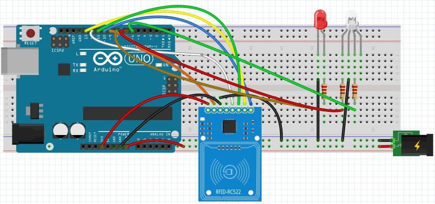 układ z diodą LED Arduino