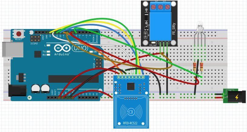 układ z przekaźnikiem Arduino