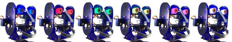 Zestaw świecących pełną paletą RGB oczu dla robota Ohbot