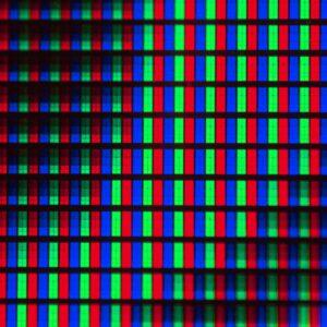 LED RGB z bliska