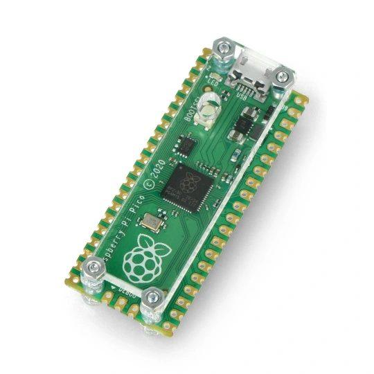 Raspberry Pi Pico wprzezroczystej obudowie