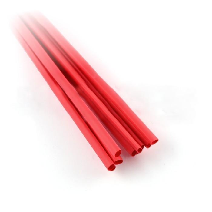 Rurka termokurczliwa 2,4/1,2 czerwona - 10 szt.