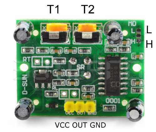 PIR HC-SR501 motion detector - outputs