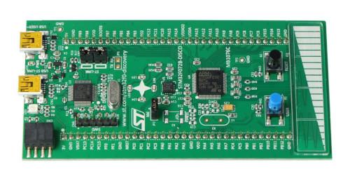 Widok modułu STM32 Discovery F0