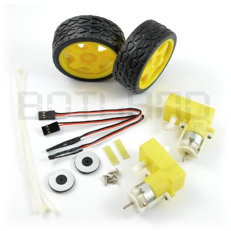 Zestaw silników i kół z enkoderami magnetycznymi DAGU RS034